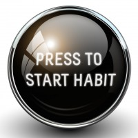 Press To Start Habit (White Square)