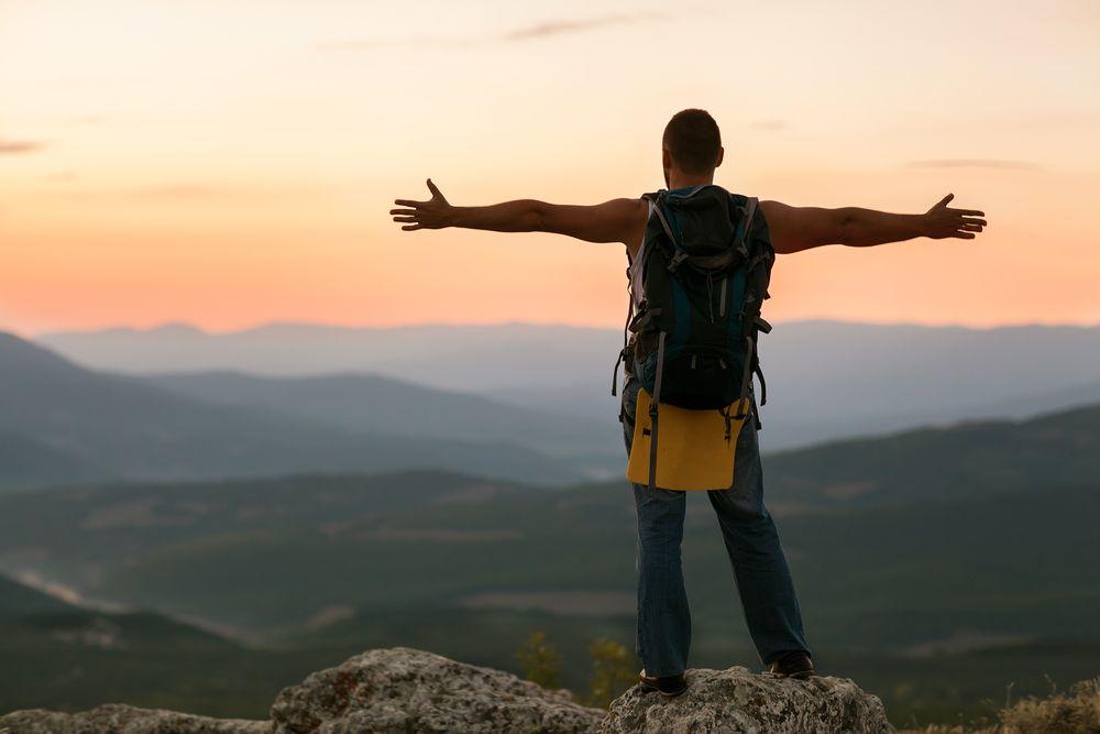 Man On Mountain - Digital Detox