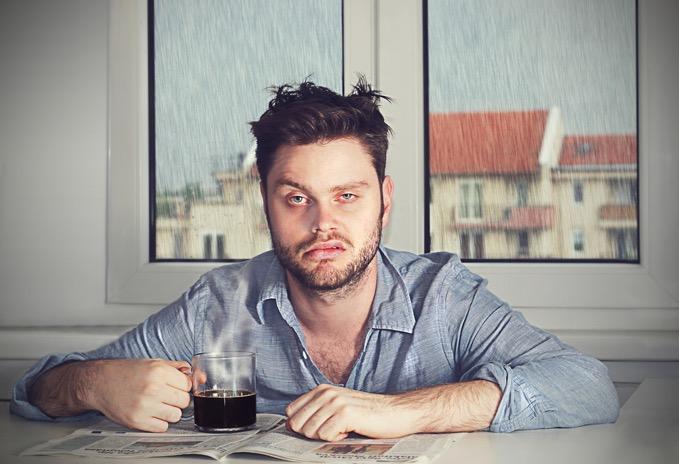 Sleep Debt Man With Coffee (679)